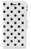 Decoded Leather Wallet case iPhone 6/6S Polka White