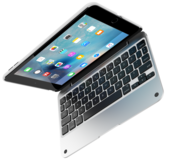 ClamCase Pro iPad mini 4 Keyboard case Silver
