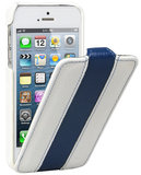 Melkco Jacka Flip case iPhone 5S/SE White Blue
