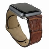 Piel Frama Leather Watch Strap 42 mm Croco Brown