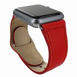 Piel Frama Leather Watch Strap 42 mm Red
