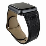 Piel Frama Leather Watch Strap 42 mm Croco Black