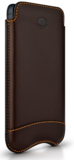 Beyzacases Slimline iPhone SE sleeve Brown