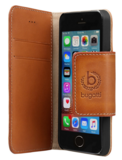 Bugatti Leather Adam iPhone SE/5S BookCover Cognac