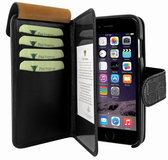 Piel Frama WalletMagnum iPhone 6/6S Plus Croco Black