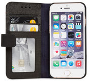Decoded Leather Book Wallet iPhone 6/6S hoesje Black