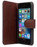 Bugatti Leather Milano iPhone SE/5S hoesje Brown