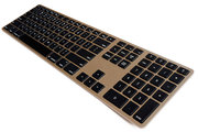 Matias Wireless Aluminium Keyboard toetsenbord Gold