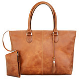dbramante1928 Leather Amalienborg Tote Tan