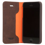 Knomo Leather Folio iPhone SE/5S hoesje Brown