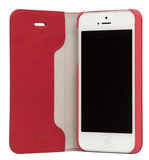 Knomo Leather Folio iPhone SE/5S hoesje Red