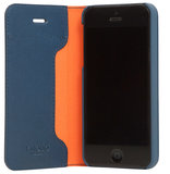 Knomo Leather Folio iPhone SE/5S hoesje Blue