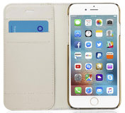 Pipetto Leather Magnetic Wallet Medium iPhone SE 2020 / 8 hoesje Beige