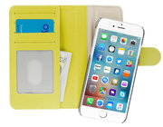 Pipetto Magnetic iPhone 7 Wallet hoesje Large Yellow