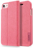 LAUT Apex Knit iPhone 7/8 Wallet hoesje Coral Pink