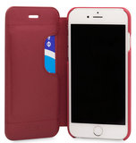 Knomo Leather Folio iPhone 7 hoesje Red