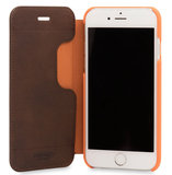 Knomo Leather Folio iPhone 7 hoesje Brown