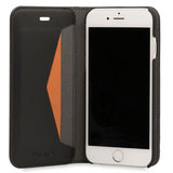 Knomo Premium Leather Folio iPhone 7 hoesje Black