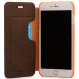 Knomo Leather Folio iPhone 7 Plus hoes Brown