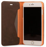 Knomo Premium Leather Folio iPhone 7 Plus hoes Brown