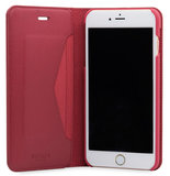 Knomo Premium Leather Folio iPhone 7 Plus hoes Red
