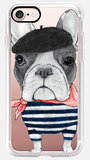 Casetify French Bulldog iPhone 7 hoesje