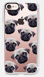 Casetify Pug Pattern iPhone 7 hoesje