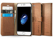 Spigen Wallet iPhone 7 hoesje Brown