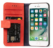 Decoded Leather Wallet iPhone 7 hoesje Red