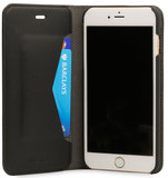 Knomo Premium Leather Folio iPhone 7 Plus hoes Black