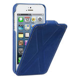 Decoded Leather Flip X iPhone SE/5S hoesje Blue