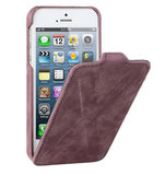 Decoded Leather Flip X Design Case iPhone 5 Purple