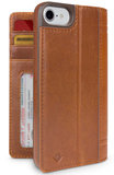Twelve South Journal iPhone SE 2020 / 8 Wallet hoesje Cognac