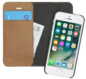 Pipetto Magnetic iPhone SE/5S Wallet hoesje Tan