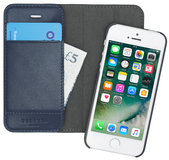 Pipetto Magnetic iPhone SE/5S Wallet hoesje Navy