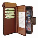 Piel Frama WalletMagnum iPhone 7 hoesje Croco Bruin
