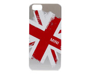 Mini Backcover iPhone 5 Union Jack Silver