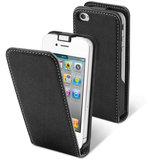 Muvit Slim Flipcase iPhone 4/4S Black