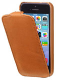 Decoded Leather Flip iPhone 5S/SE hoesje Bruin