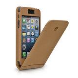 Beyzacases Flip case iPhone 5 Camel