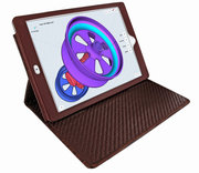 Piel Frama Cinema iPad Pro 10,5 inch hoes Croco Bruin