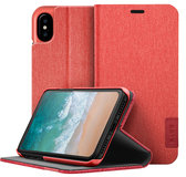 LAUT Apex Knit iPhone X Wallet hoesje Rood