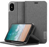 LAUT Apex Knit iPhone X Wallet hoesje Grijs