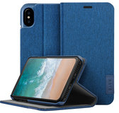 LAUT Apex Knit iPhone X Wallet hoesje Blauw