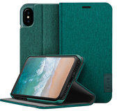 LAUT Apex Knit iPhone X Wallet hoesje Groen