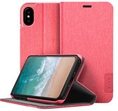 LAUT Apex Knit iPhone X Wallet hoesje Roze