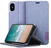 LAUT Apex Knit iPhone X Wallet hoesje Violet
