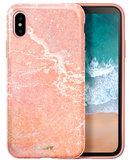 LAUT Huex iPhone X Marble hoesje Roze