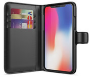BeHello Wallet iPhone X hoesje Zwart