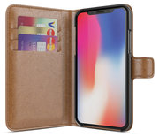 BeHello Wallet iPhone X hoesje Bruin